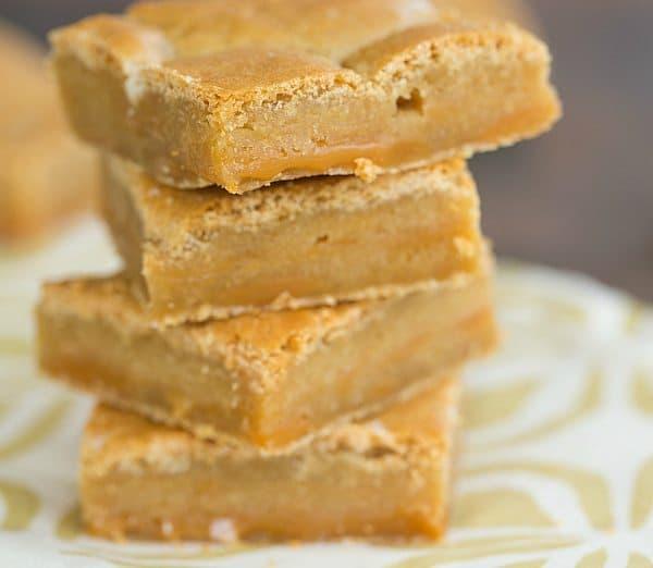 Salted Caramel Blondies   browneyedbaker.com #recipe