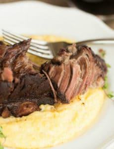 Braised Short Ribs with Cheesy Grits (Slow Cooker)