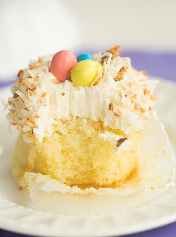 Coconut Cupcakes with Toasted Coconut Frosting | browneyedbaker.com # ...