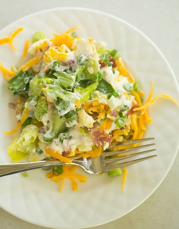 7 Layer Salad | browneyedbaker.com #recipe