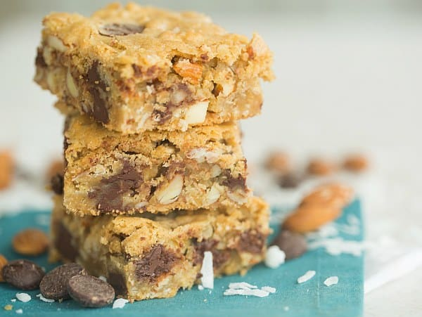 Almond Joy Cookie Bars | browneyedbaker.com #recipe
