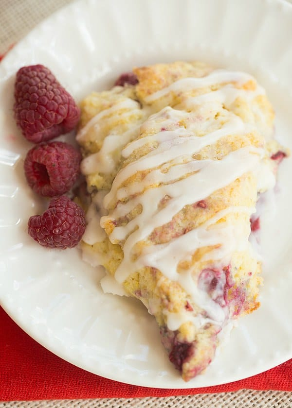 Easy Raspberry White Chocolate Scones Recipe