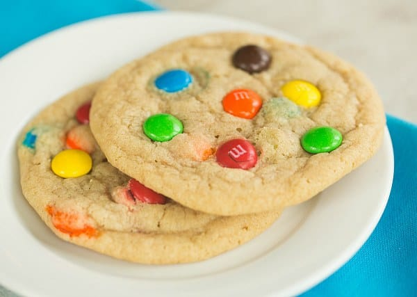 Soft and Chewy M&M Cookies | browneyedbaker.com #recipe