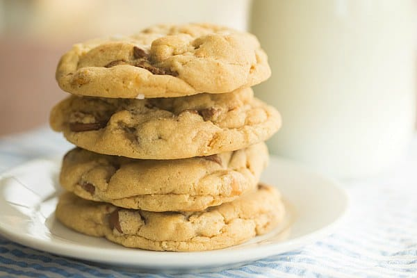 Salted Peanut Butter Cup Chocolate Chip Cookies | browneyedbaker.com # ...