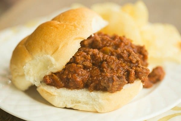 Homemade Sloppy Joes | browneyedbaker.com #recipe