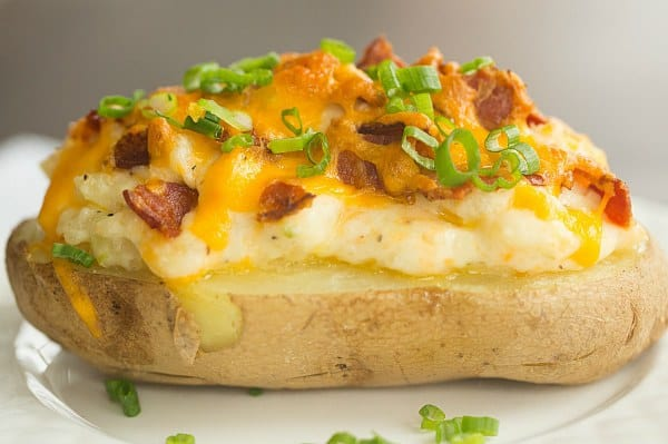 The Best Twice Baked Potatoes | browneyedbaker.com #recipe