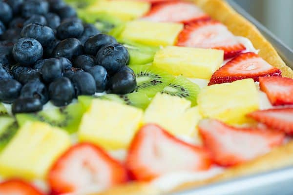 Fruit Pizza | browneyedbaker.com #recipe #summer