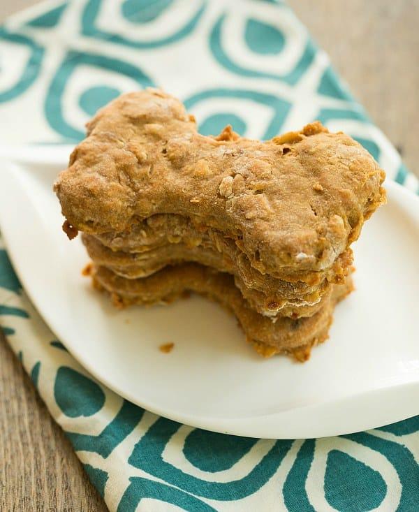Homemade Peanut Butter-Bacon Dog Treats {Happy 1st