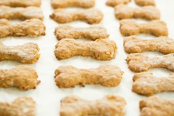 Homemade Peanut Butter-Bacon Dog Treats | browneyedbaker.com