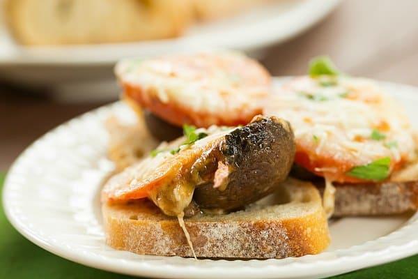 Marinated and Baked Portobello-Tomato Appetizer | browneyedbaker.com
