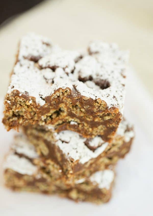 Muddy Buddy (Puppy Chow) Rice Krispie Treats | browneyedbaker.com #recipe