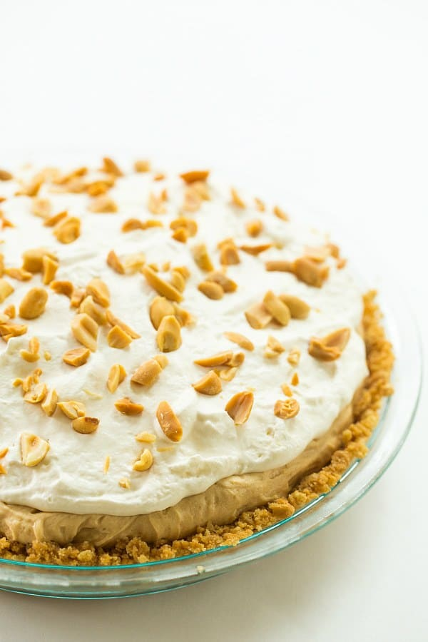 No-Bake Peanut Butter Lover's Pie | browneyedbaker.com #recipe