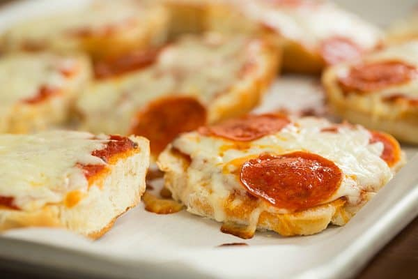 Pizza Burgers | browneyedbaker.com #recipe