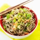 Cold Soba Noodle Salad with Spicy Peanut Butter Dressing