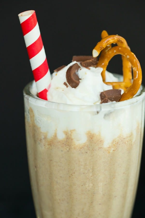Chubby Hubby Milkshake | browneyedbaker.com #recipe