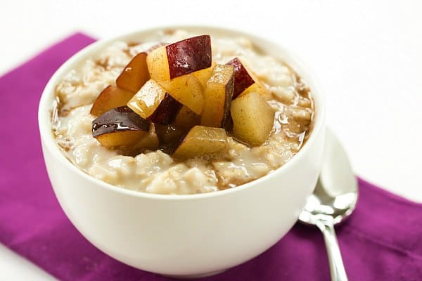 Overnight Chilled Plum-Oatmeal | browneyedbaker.com #recipe