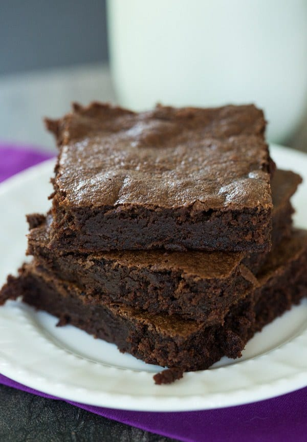 Zingerman's Black Magic Brownies   browneyedbaker.com #recipe