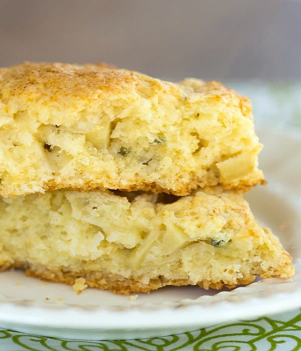 Apple Gruyere & Sage Scones | browneyedbaker.com #recipe