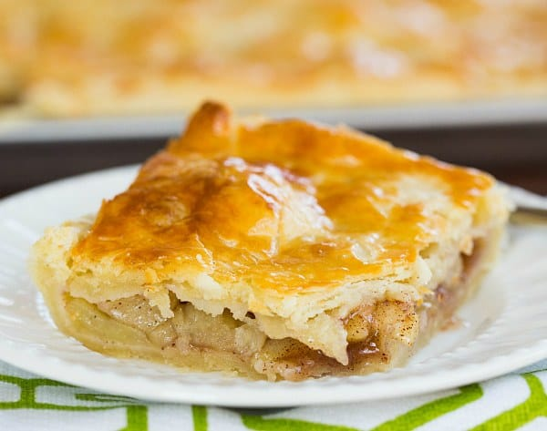Apple Slab Pie - Perfect for serving a crowd! | browneyedbaker.com #recipe