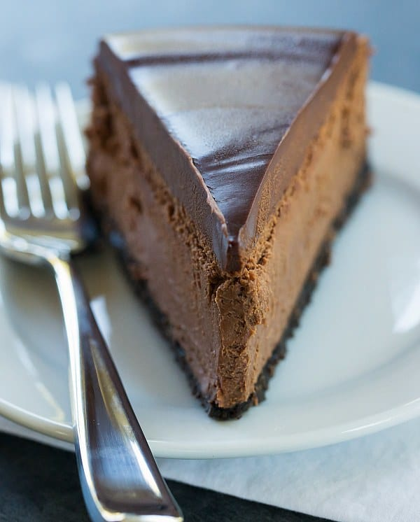 Chocolate Cheesecake | browneyedbaker.com #recipe