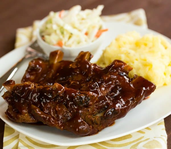 Crock-Pot BBQ Ribs - The easiest, most flavorful ribs you'll ever make at home! | browneyedbaker.com #slowcooker #recipe