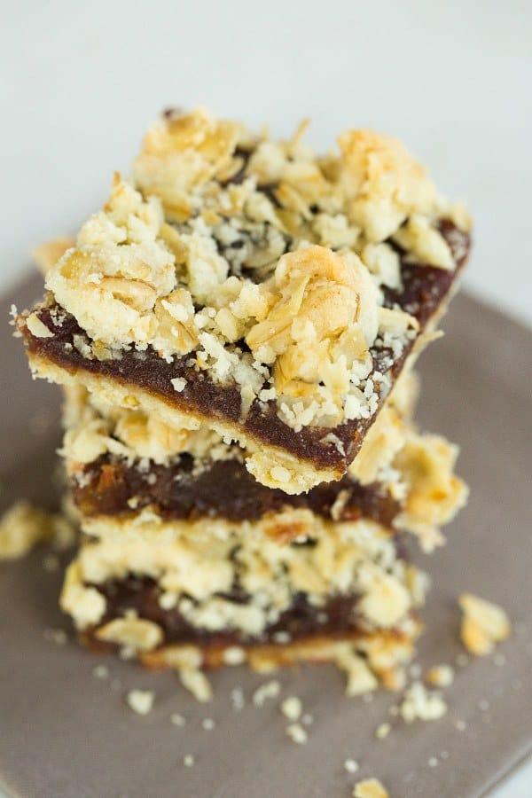 Maple-Date Bars | browneyedbaker.com #recipe