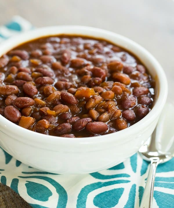 Crock-Pot Root Beer Baked Beans | Brown Eyed Baker