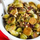 Brussels Sprouts with Pancetta, Cranberries & Pine Nuts - A perfect Thanksgiving side dish! | browneyedbaker.com