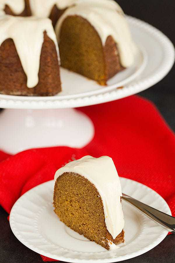 Gingerbread Bundt Cake with Cream Cheese Icing - A perfect holiday ...