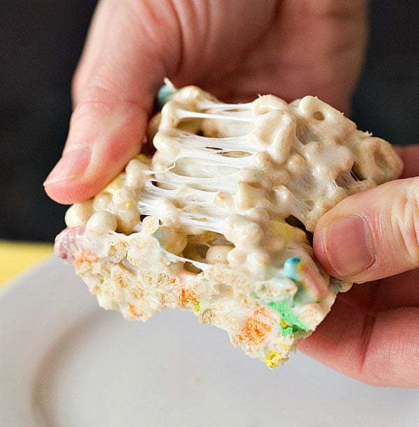 Lucky Charms Marshmallow Cereal Treats for St. Patrick's Day!   browneyedbaker.com