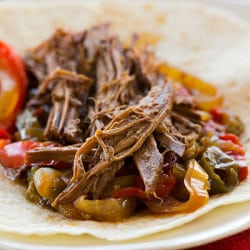 Crock-Pot Steak Fajitas Recipe - Only 10 minutes of prep time! | browneyedbaker.com