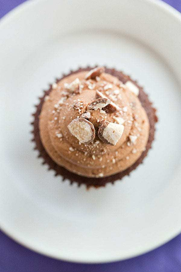 Malted Milk Chocolate Cupcakes Brown Eyed Baker