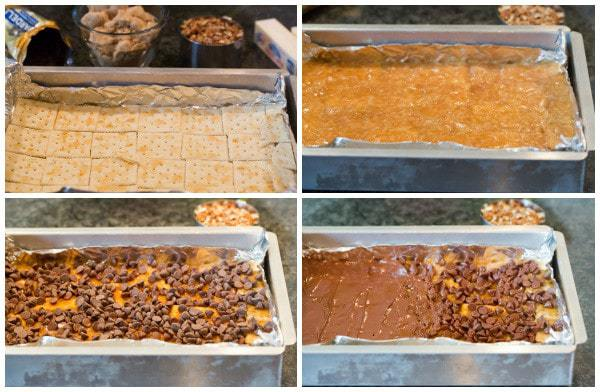 Saltine Toffee Candy with Pecans - An easy and delicious candy recipe! | browneyedbaker.com
