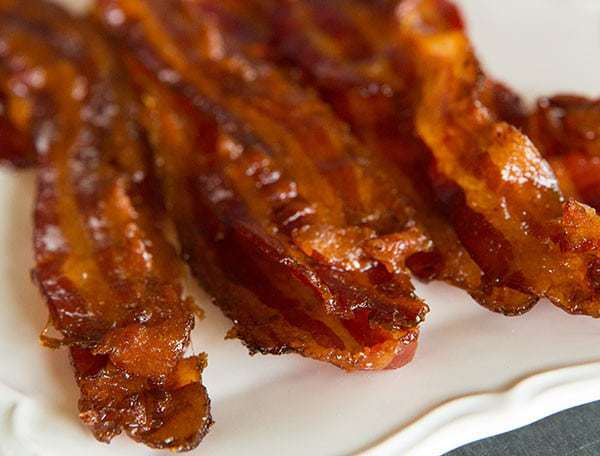 Bourbon-Brown Sugar Bacon | browneyedbaker.com