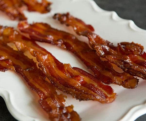 Bourbon-Brown Sugar Bacon | browneyedbaker.com