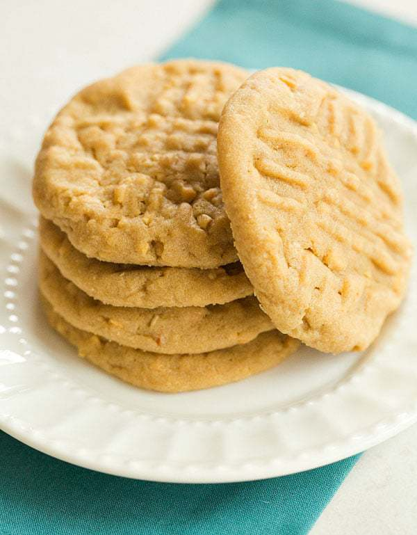 Chunky, Chewy Peanut Butter Cookies