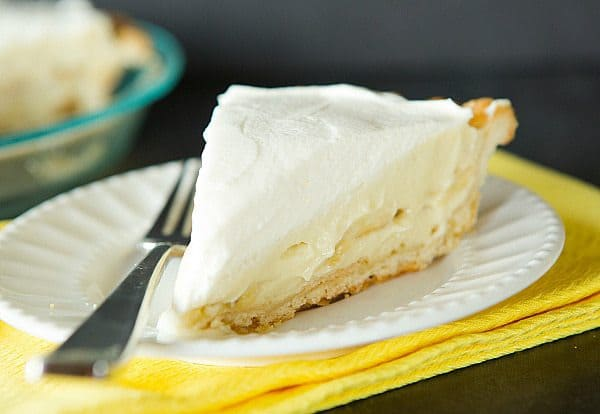 Banana Cream Pie - The pastry cream is INFUSED with bananas for supreme flavor! | browneyedbaker.com