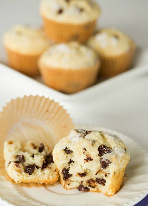 Chocolate Chip Muffins - A perfect, sweet start to your mornings! | browneyedbaker.com