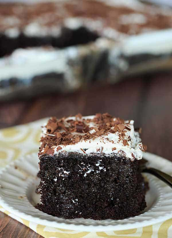 Chocolate Cake With Sweetened Condensed Milk On Top