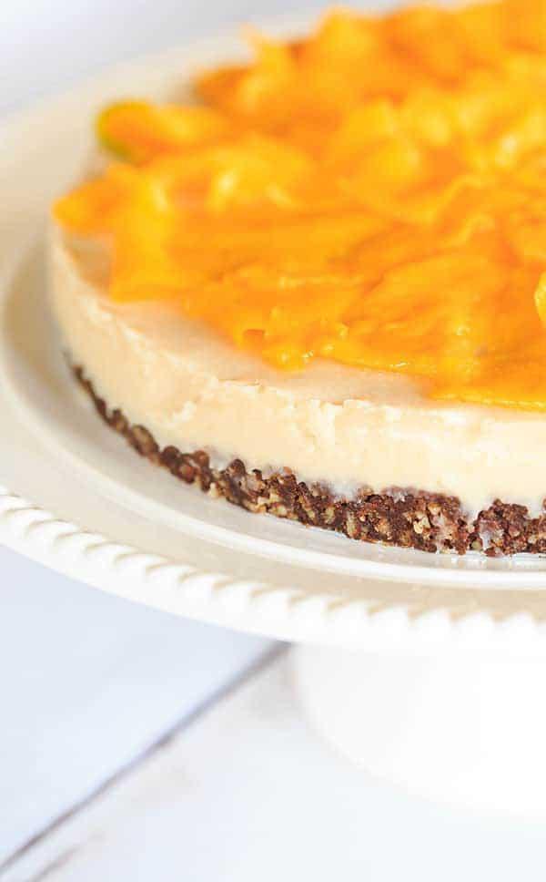 No-Bake Coconut-Mango Cheesecake