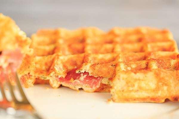 Savory Salami, Cheese & Herb Waffles | http://www.browneyedbaker.com ...