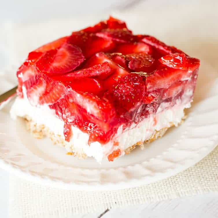 Strawberry Pretzel Salad Brown Eyed Baker