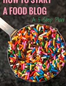 How to Start a Food Blog - A 5-Step Plan + Dozens of Resources! | http://www.browneyedbaker.com/how-to-start-a-food-blog/