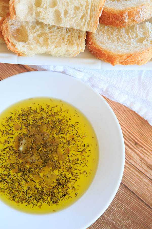 Roasted Garlic & Herb Dipping Oil - Perfect with a loaf of crusty ...