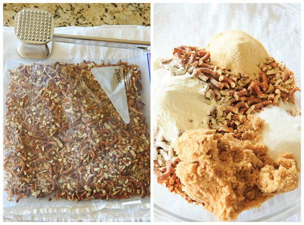 Malted Pretzel Crunch is quick, easy & the ultimate sweet/salty snack! Keep a batch on hand for the holidays, or package it up and give it away as gifts! | http://www.browneyedbaker.com/malted-pretzel-crunch/