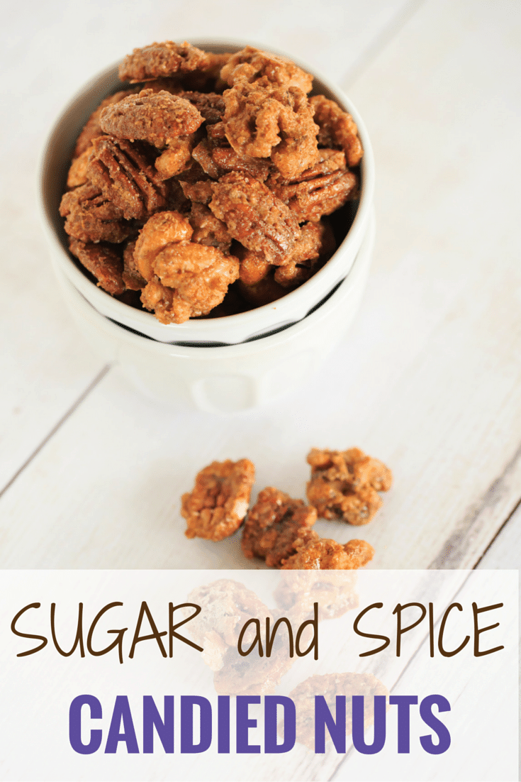 Sugar and Spiced Candied Nuts - These sweet and spicy candied nuts are sweet with a punch of cinnamon and a hint of spice. Perfect for holiday cocktail parties or hostess gifts! | http://www.browneyedbaker.com/sugar-and-spice-candied-nuts/