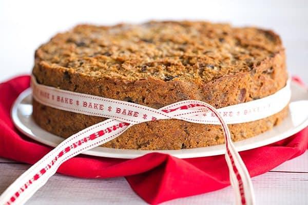 Christmas Cake - A wonderfully dense and moist fruit cake loaded with rum-soaked fruit! | http://www.browneyedbaker.com/christmas-cake/