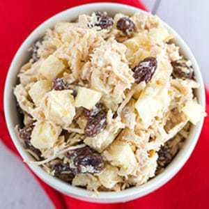Chicken Salad with Apple, Raisins & Walnuts | Brown Eyed Baker