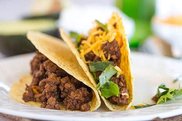 Ground Beef Tacos - The absolute best seasoned ground beef for your ...