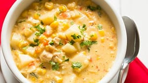 Chipotle Chicken & Corn Chowder